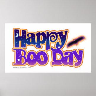 Posters de Halloween, banderas - día feliz del abu