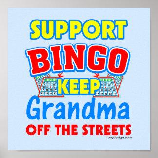 Posters de la abuela del bingo de la ayuda