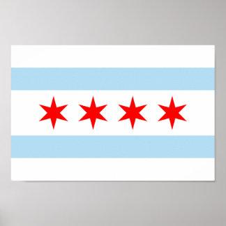 Posters de la bandera de Chicago
