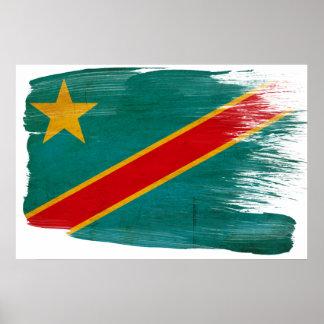 Posters de la bandera de Congo Póster