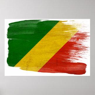 Posters de la bandera de la república de Congo Póster