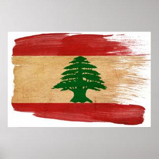 Posters de la bandera de Líbano
