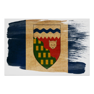 Posters de la bandera de los territorios del noroe