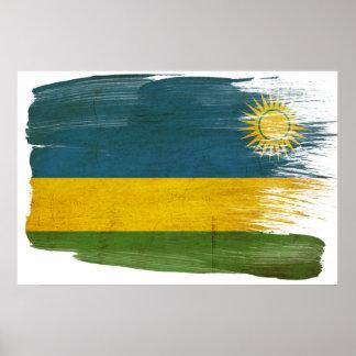 Posters de la bandera de Rwanda