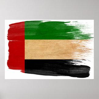 Posters de la bandera de United Arab Emirates Póster