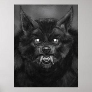 """""""Posters de la cara del hombre lobo"""" Póster"""