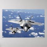 Posters de la cautela del rapaz F-22