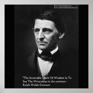 """Posters de la cita de la """"sabiduría común"""" de Ralp"""