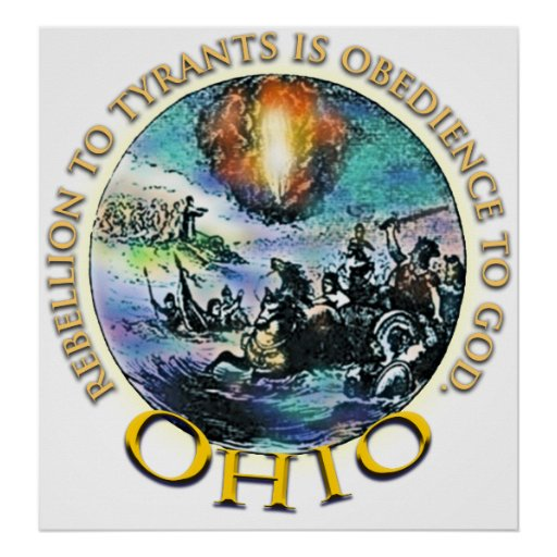 Posters de la fiesta del té de Ohio