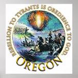 Posters de la fiesta del té de Oregon