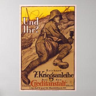 Posters de la guerra del vintage de Alemania