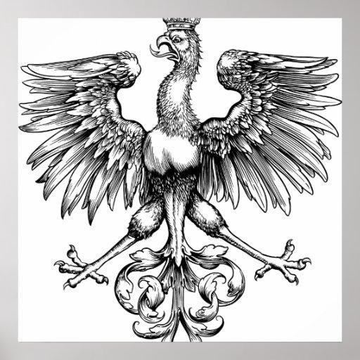 Posters de la impresión del arte de Eagle del pola