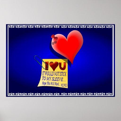Posters de la nota del corazón y del amor de la ta