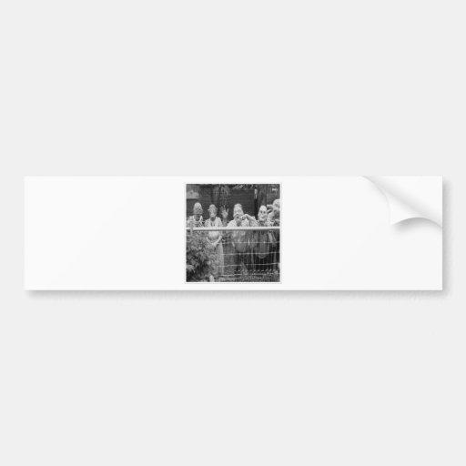 Posters de la obra clásica de las tarjetas de pegatina para coche