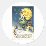 Posters de la obra clásica de las tarjetas de feli pegatina redonda