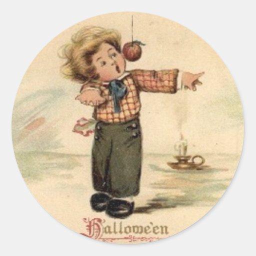 Posters de la obra clásica de las tarjetas de etiqueta redonda