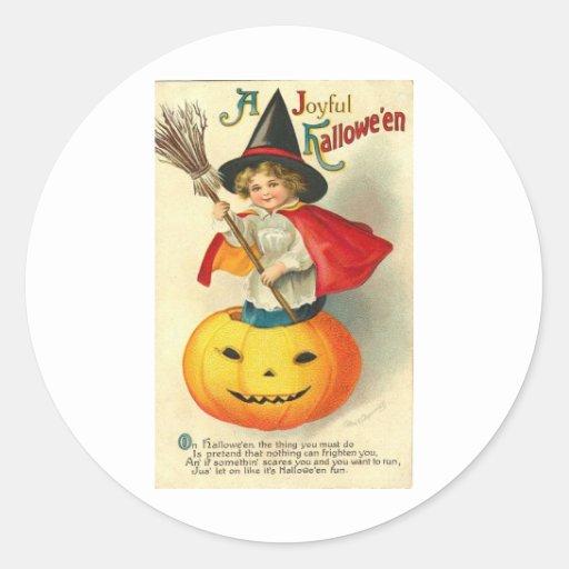 Posters de la obra clásica de las tarjetas de pegatina redonda