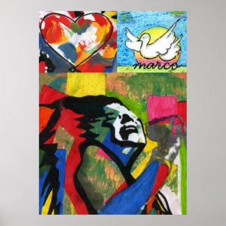 Posters de la pintura de la estrella del rock de l