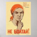 Posters de la propaganda de Unión Soviética de la