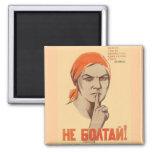 Posters de la propaganda de Unión Soviética de la  Imanes Para Frigoríficos