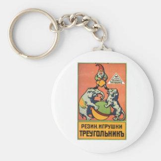 Posters de la propaganda de Unión Soviética de la Llavero Redondo Tipo Pin