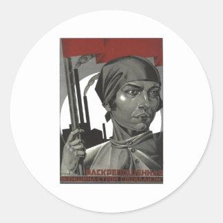 Posters de la propaganda de Unión Soviética de la Etiqueta Redonda
