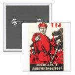 Posters de la propaganda de Unión Soviética de la  Pins
