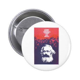 Posters de la propaganda de Unión Soviética de la Pin Redondo De 2 Pulgadas