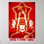 Posters de la propaganda de Unión Soviética de la Póster