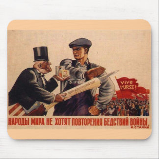 Posters de la propaganda de Unión Soviética de la  Tapete De Ratón