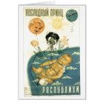 Posters de la propaganda de Unión Soviética de la  Felicitación