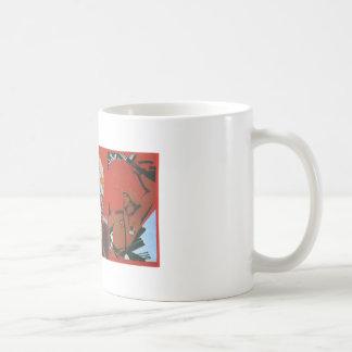 Posters de la propaganda de Unión Soviética de la  Taza De Café