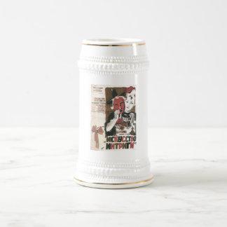Posters de la propaganda de Unión Soviética de la  Jarra De Cerveza