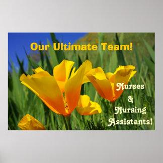 Posters de la semana de las enfermeras que cuidan