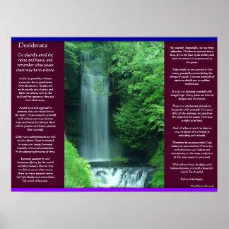 Posters de las cascadas de los DESIDERÁTUMS