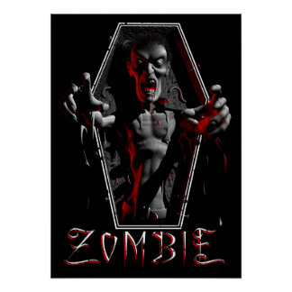 Posters de levantamiento del zombi
