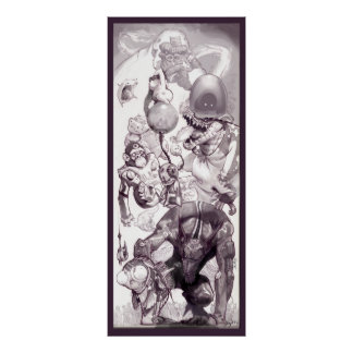 "Posters ""de los Critters subconscientes del espaci"