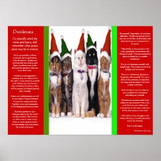 Posters de los gatos del navidad de los