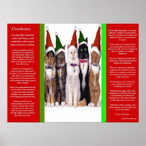 Posters de los gatos del navidad de los DESIDERÁTU