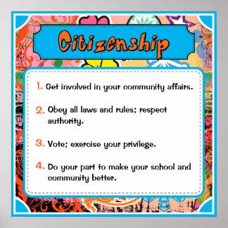 Posters de los rasgos de carácter, ciudadanía - 5