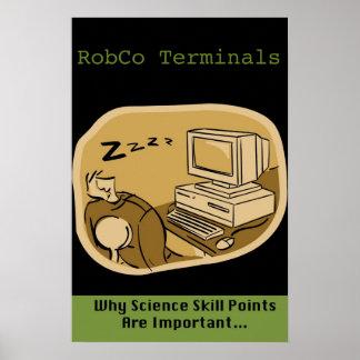 Posters de los terminales de RobCo