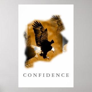 Posters de motivación del arte de la confianza de