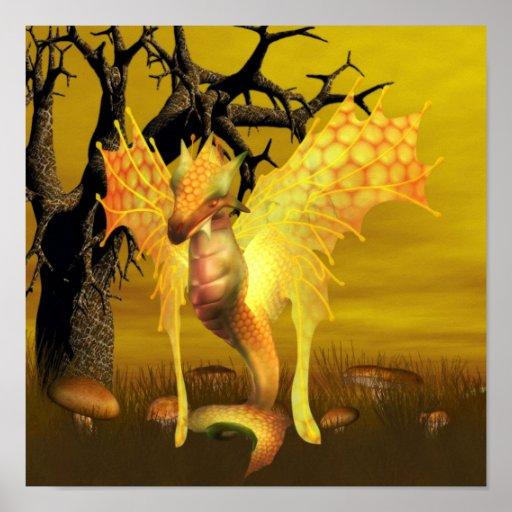 Posters de oro del dragón