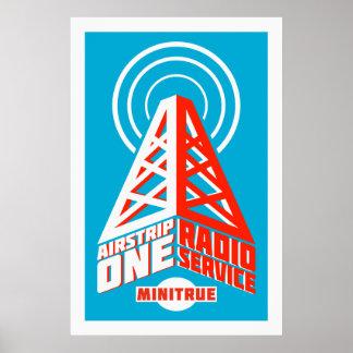 Posters de radio del servicio de la pista de aterr