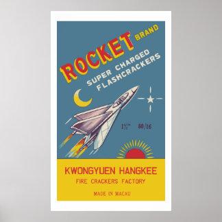 Posters de Rocket (petardo chino del vintage)