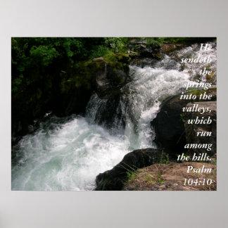 Posters del 104:10 del salmo