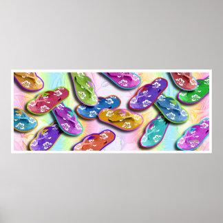 Posters del arte pop de los flips-flopes impresio