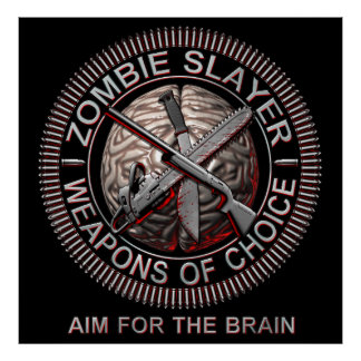 Posters del asesino del zombi
