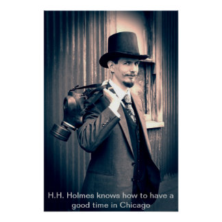Posters del asesino H H Holmes