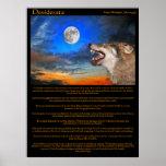 Posters del aullido de la noche de los desiderátum